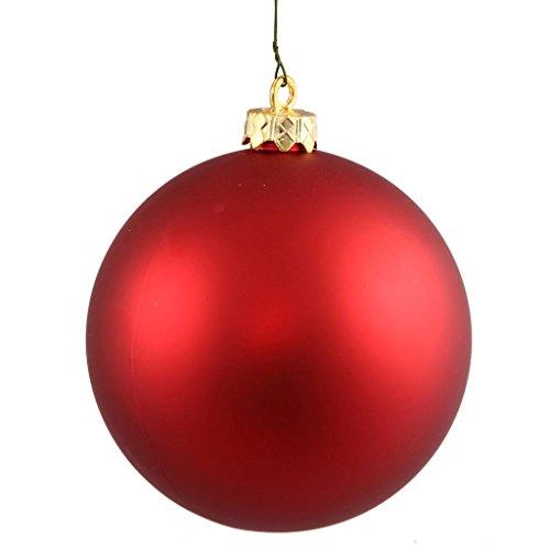 Vickerman 256152 – 2.4″ Red Matte Ball Christmas Tree Ornament (60 pack) (N596003M)
