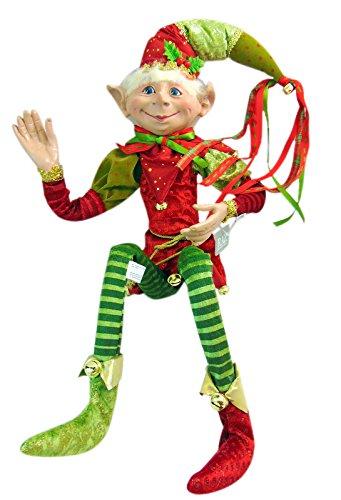 RAZ Imports – 30″ Posable Elf (Green Hat)