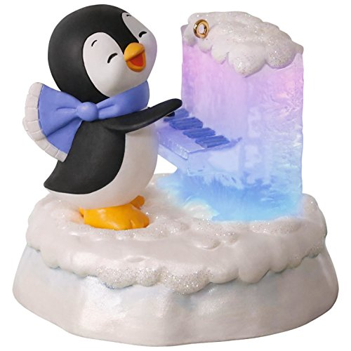2017 Hallmark Merry Music Makers Penguin Playful Piano Music Ornament With Light