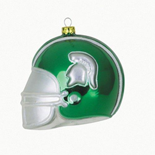 Michigan State Team Glass Helmet Ornament