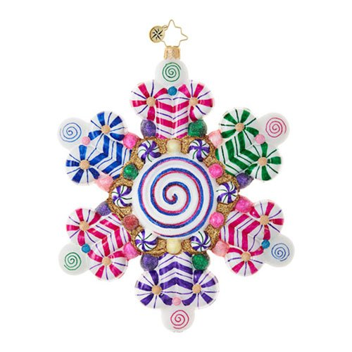Christopher Radko Shop Snowflake Candy & Sweets Christmas Ornament