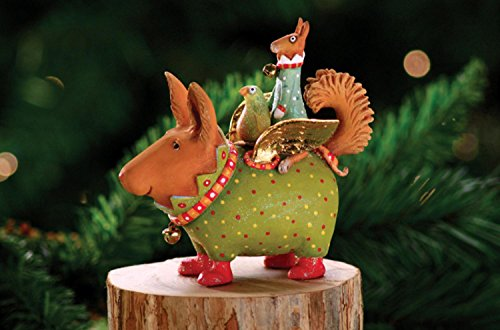 Patience Brewster Krinkles Terrier Carrier Dog Christmas Ornament