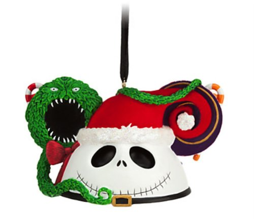 Disney Parks Santa Jack Skellington Mickey Mouse Ears Hat Ornament NEW RELEASE