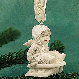 "Department 56 Snowbabies ""Give Me A Push"" Miniature Ornament #56.68910"