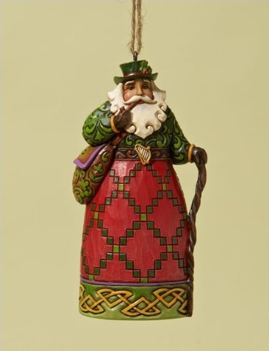 Jim Shore Irish Around the World Santa Heartwood Creek Christmas Ornament