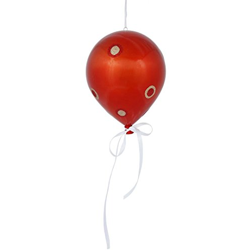 Vickerman N169718 Dot Balloon with a Candy Finish in 3 Per Bag, 10″ x 8″, Orange