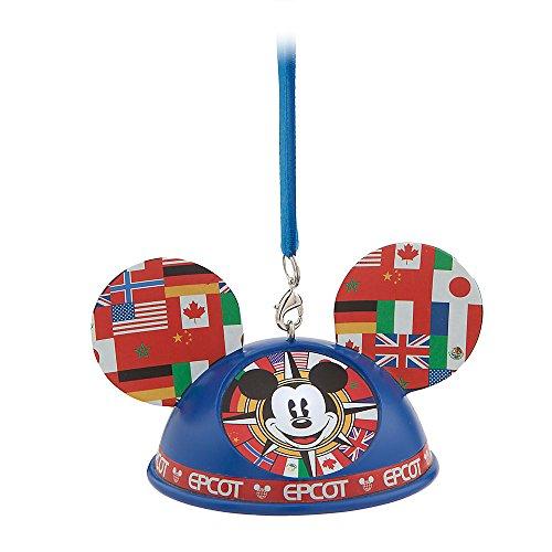 Disney Mickey Mouse Epcot World Showcase Light-Up Ear Hat Ornament – Walt Disney World