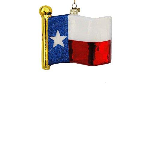 Kurt Adler 4.5″ Glass Texas State Flag Ornament