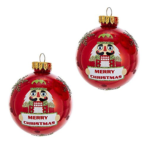 Kurt Adler GG0682 Nutcracker Glass Ball Ornament Box Set