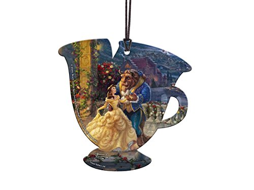 Disney Beauty and the Beast Chip Teacup Shaped Hanging Acrylic Decoration Ornament