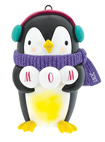 Carlton Heirloom Ornament 2017 Mom – Penguin with Scarf – #CXOR013M