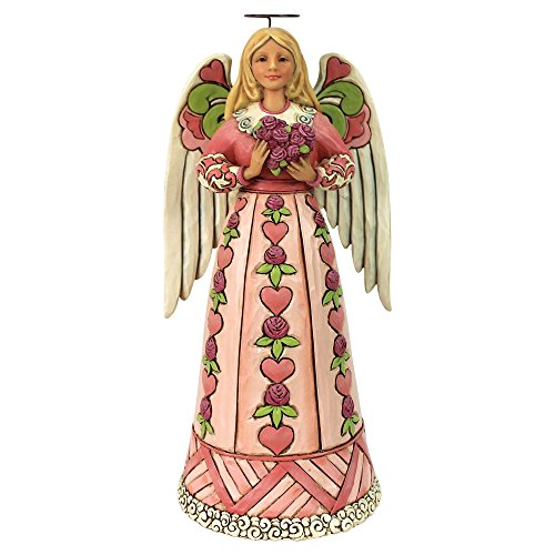 Enesco Jim Shore Heartwood Creek Angel w/Heart Ornament