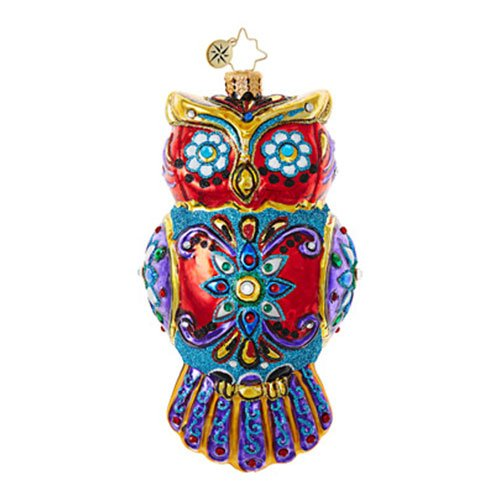Christopher Radko Ornate Owl Halloween Christmas Ornament