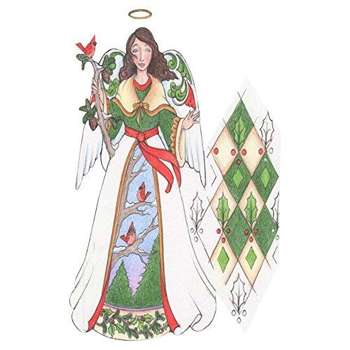 Enesco Jim Shore Heartwood Creek Green Angel w/Cardinals Ornament