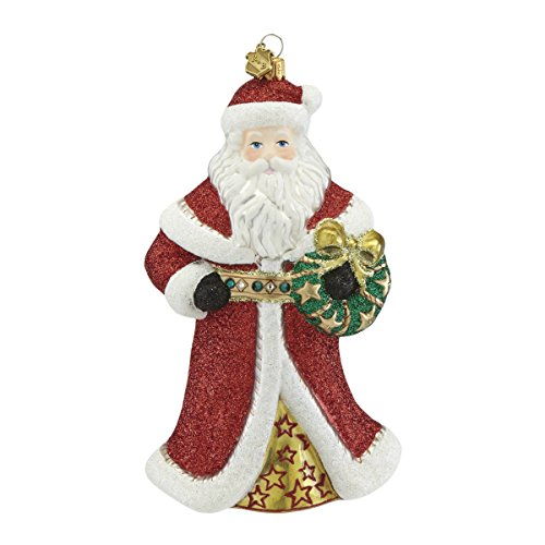 Reed & Barton Santa & Wreath Ornament