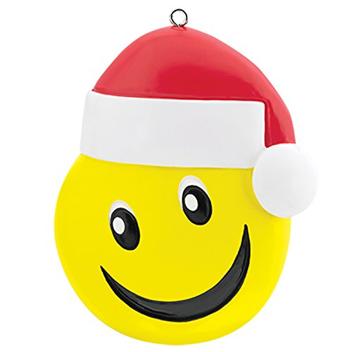 Carlton Ornament 2017 Smiley Face with Santa Hat – Emoji – Emoticon – #CXOR069M