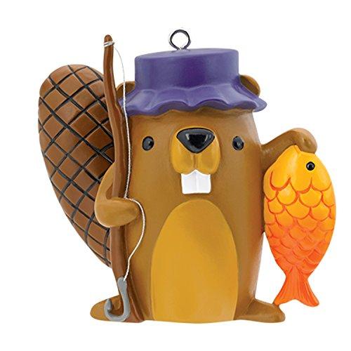 Carlton Heirloom Ornament 2017 Fishing – Beaver with Fishing Pole – #CXOR068M