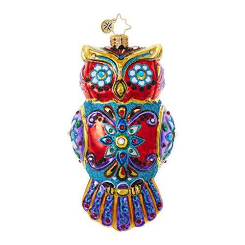 Christopher Radko Ornate Owl Halloween Christmas Ornament