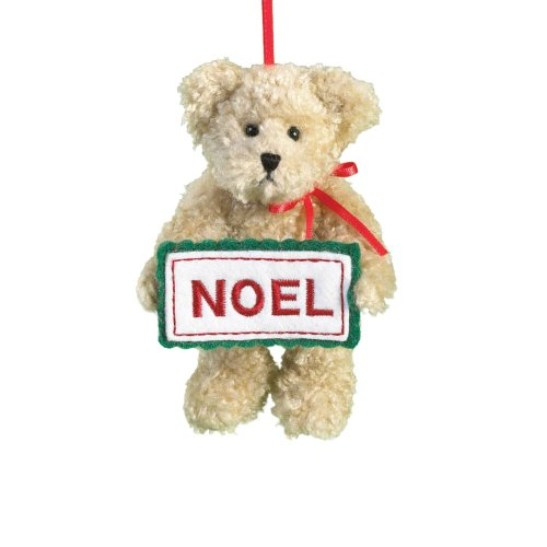 Boyd's Bears by Enesco Collectible Noel Plush Sentiment Ornament