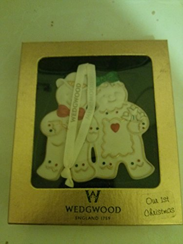 Wedgwood Our 1st Christmas Ornament Gingerbread Man and Woman