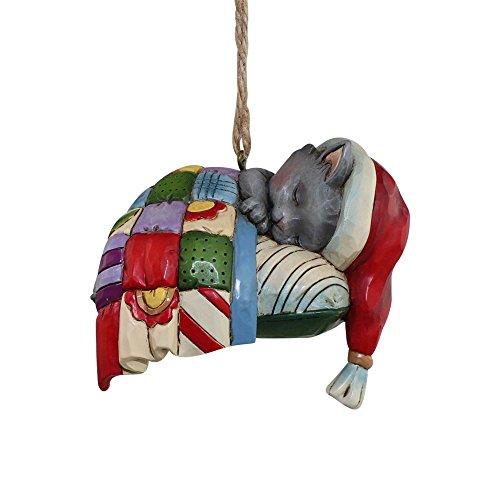 Enesco Jim Shore Heartwood Creek Kitten on Pillow Ornament