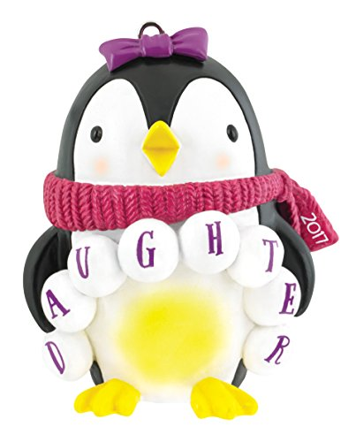 Carlton Heirloom Ornament 2017 Daughter – Penguin in Scarf – #CXOR016M