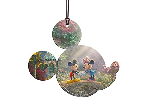 Disney Mickey and Minnie Mouse Sweetheart Bridge Shaped Hanging Acrylic Decoration Ornament