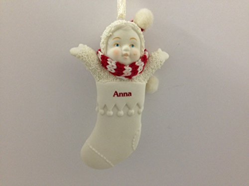 Snowbabies Personalized Name Christmas Stocking Ornament – Anna – 3.25″