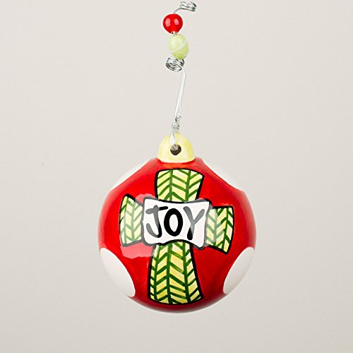 Glory Haus 2090113 Joy Cross Ball Ornament
