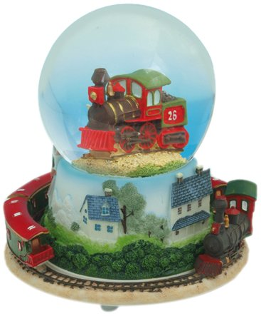 MusicBox Kingdom 14181 Snow Globe Train Musical Jewelry Box, Playing a well-known melody