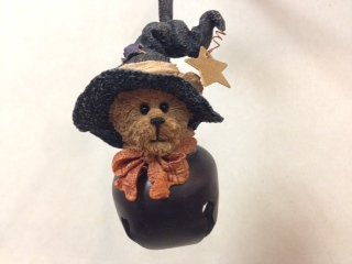 Bear Dressed As a Witch Jingle Ornament, Boyds Bears