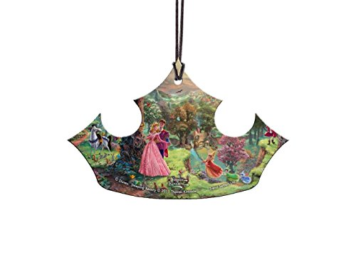Disney Sleeping Beauty Aurora Crown Hanging Acrylic Decoration Ornament