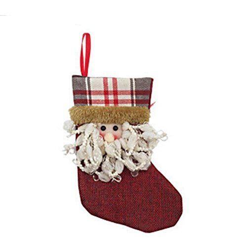 Zehui Christmas Stocking Holders Candy Bag Christmas Gift Bag for Christmas Decoration- A805 Santa Claus