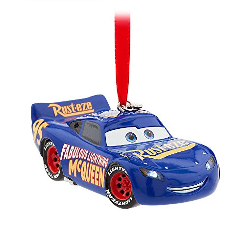 Disney Lightning McQueen Light-Up Sketchbook Ornament – Cars 3 – Blue 465063962731