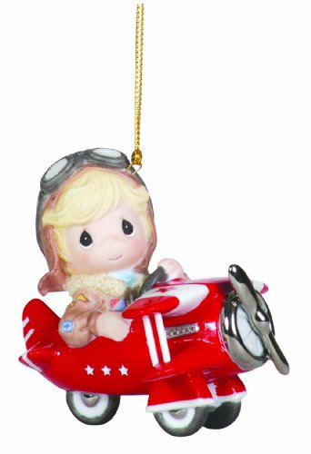 "Precious Moments Boy In Bi-Plane Ornament ""You Love Is So Uplifting"""