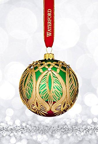 Waterford Nostalgic Peacock Grande Ball Ornament