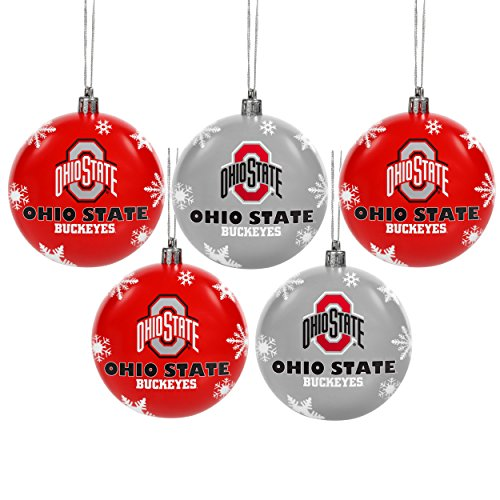 Ohio State 2016 5 Pack Shatterproof Ball Ornament Set