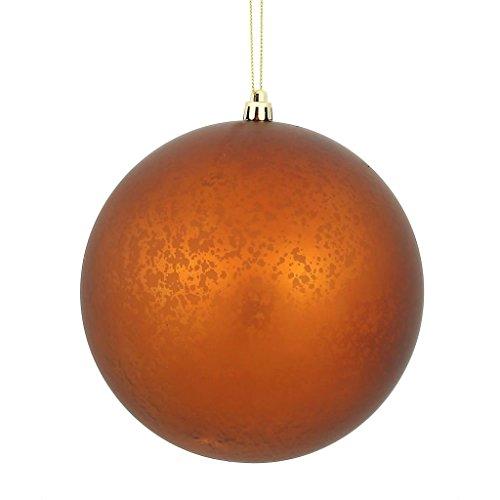 Vickerman 478851 – 4″ Copper Matte Mercury Ball Christmas Tree Ornament (6 pack) (N176188)