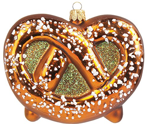 Oktoberfest Salted Pretzel Polish Blown Glass Christmas Ornament Decoration