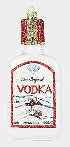 Bottle of Vodka Polish Mouth Blown Glass Christmas Ornament Liquor Decoration