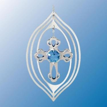 Silver Cross Suncatcher