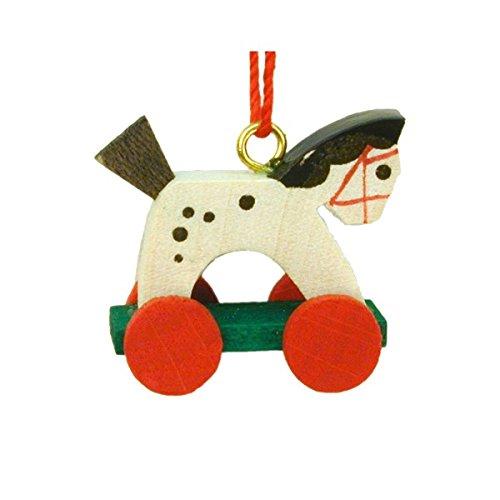 Alexander Taron Christian Ulbricht Horse on Wheels Decorative Hanging Ornament