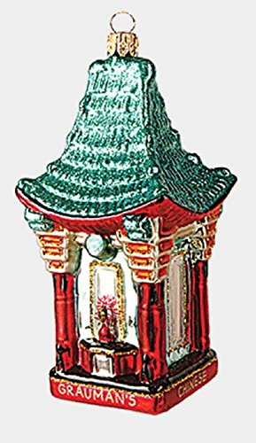 San Francisco Grauman's Chinese Theater Polish Glass Christmas Ornament Theatre