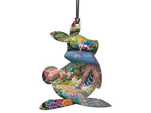 Disney Alice in Wonderland White Rabbit Shaped Hanging Acrylic Decoration Ornament