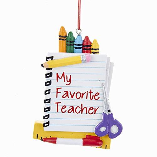 """Kurt Adler 4″ Resin """"my Favorite Teacher"""" Ornament"""