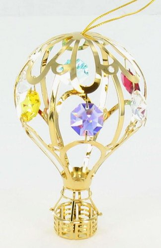 Gem Hot Air Balloon Statue Ornament