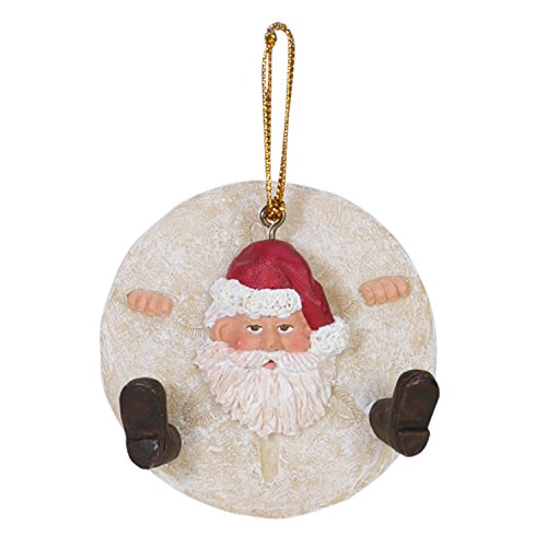 Beachcombers Sand Dollar Santa Ornament