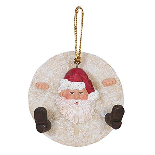 Beachcombers Sand Dollar Santa Ornament