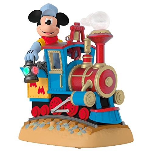 Hallmark Keepsake 2017 Disney Mickey's Magical Railroad Sound Christmas Ornament With Light and Motion