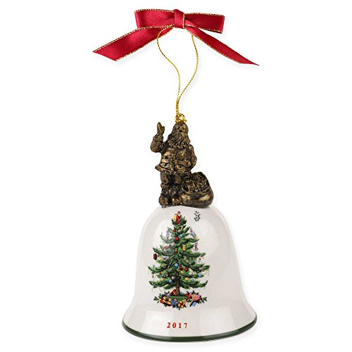Spode Christmas Tree Santa Bell 2017 Ornament